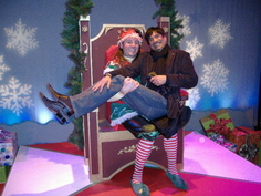 Check out The Santaland Diaries and get your pic taken with Crumpet!