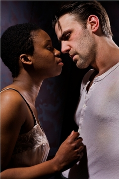 Andrea Belser and Curtis L. Young in Things of Dry Hours at CPT (Photo: Steve Wagner)