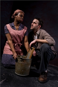 Corbin (Curtis L. Young) tries to seduce Cali (Andrea Belser) in Things of Dry Hours (Photo: Steve Wagner)