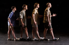 Jonathan Ramos, Kevin S. Charnas, Adam Thatcher and Trae Hicks explore the history of walking (Photo Credit: Steve Wagner)