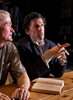 John Stuehr as the scholar and Brett Keyser as the poet in Open Mind Firmament (Photo: Steve Wagner)