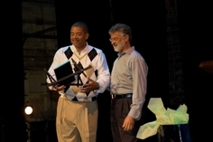 Pandemonium 09 Honoree Brian E. Hall receiving Pan Award from Mayor Frank Jackson