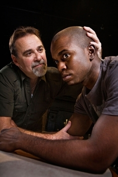 Charles Kartali as Vet, Rod Lawrence as Buddy (Photo credit: Steve Wagner)