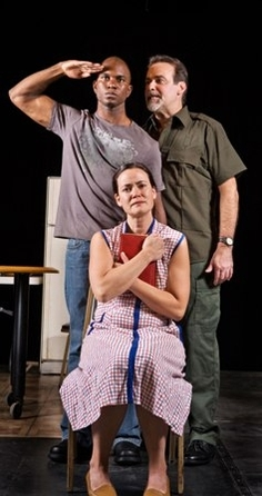 Rod Lawrence as Buddy, Charles Kartali as Vet, Sally Groth as Grace (Photo credit: Steve Wagner)
